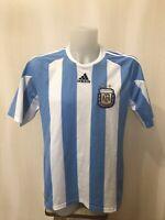Argentina team 2010/2011 home Sz L Adidas shirt jersey maillot football soccer