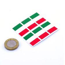 Italy Flag Stickers x6 25mm Car Motorbike Helmet Vinyl Decals Italian Tricolore