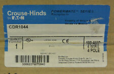 Eaton Crouse-Hinds CDR1044 POWERMATE Receptacle 100A 4Wire 4Pole *NEW