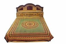 Indian Cotton FullQueenCaliforniaKing Size Tapestry Bed Sheet With Pillow