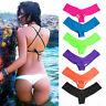 Beach Womens Lady Brazilian Sexy Ruched Bikini Bottom Swimwear Bathing Thong
