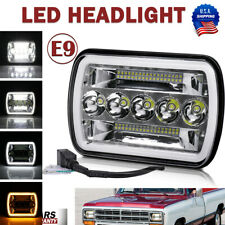 Crystal 5X7'' 7x6 LED Headlights Hi-Lo Sealed Beam DRL for Pickup Truck Headlamp