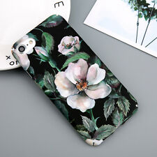 iPhone XS Max XR 8 5S 6S 7 Flower Pattern Hard Plastic Shockproof Case Cover For