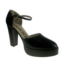 Gucci Leather Platform Pumps - Agon With Crystal Buckle Size EU 41 / UK 8