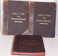 Great Men and Famous Women Volumes 2 , 6 & 8  Selmar Hess 1894 1st Illustrated