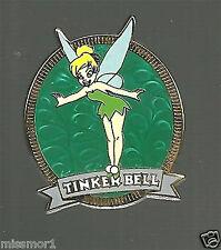 Disney Pin Disneyland Tinkerbell 2003 green swirl background flying