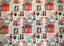 BARBQUE BBQ GRILL COOKOUT UTENSILS CONDIMENTS & MORE VALANCE