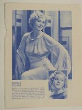 Gloria Stuart vintage cutting blue & white monochrome photo 1935 , 8x10