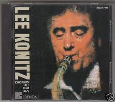 LEE KONITZ CHICAGO'N ALL THAT JAZZ CD