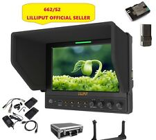 "Lilliput 7"" 662/S IPS 3G-SDI SDI/HDMI Cross Conversion+LP-E6 battery + Suitcase"