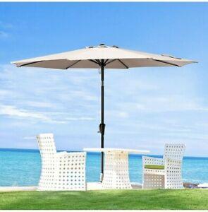 JEAREY 9FT Patio Umbrellas Outdoor Table Umbrella with 8 Sturdy Ribs