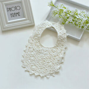 Babero Delicado Tela Algodon Encaje Baby Girl Bib Cotton Accessories Gorgeous