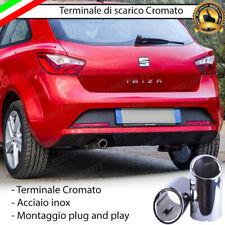 TERMINALE DI SCARICO SINGOLO PER MARMITTA TONDO CROMATO INOX SEAT IBIZA IV 4
