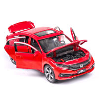 1:32 Scale Honda Civic Model Car Metal Diecast Gift Toy Vehicle Kids Red Sound