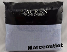 Ralph Lauren Graydon Melange Cotton KING Sheet Set Chambray Blue