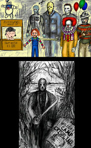 Peanuts Jason Vorhees Play Lot of (2) High Quality Posters Friday the 13th