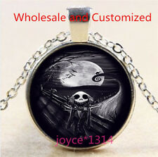 Nightmare Before Christmas Cabochon silver Glass Chain Pendant Necklace #6342