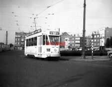 PHOTO  BELGIUM TRAMS 1959 BRUXELLES SCHAERBEEK STIB TRAM NO 9081 ON ROUTE 2