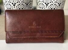 Vintage Vera Pelle MODA ITALIANA YANKEE 1981 Genuine Leather Wallet Purse Used/