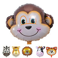 Cute Big Animal Head Balloons Helium Foil Ballons birthday theme party Pop PT
