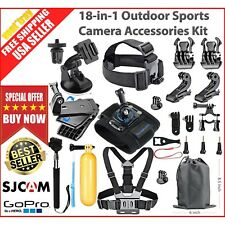 18-in-1 Essentials Accessories Kit GoPro Hero 6/5/4/3/2/1 Session Hero LCD Black