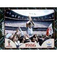Panini WM 2018 676 Legends Argentinien 1986 World Cup WC 18Wappen Glitzer