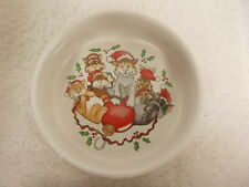Silvestri Celebrations Audrey Heffner Christmas Holiday Cat Water Food Bowl Dish