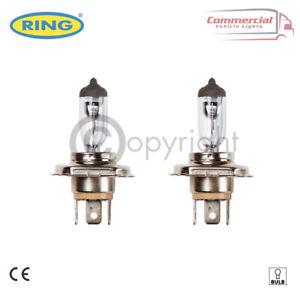2 x RING H4 R472 HALOGEN CAR HEADLIGHT HEADLAMP BULB 12V 60/55W P43T