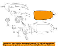 JAGUAR OEM 09-10 XF Door Rear Side View-Mirror Glass Right C2C37098