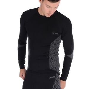 Oxford Layers Base Layer Knitted Long Sleeved Thermal Motorcycle Top - Black