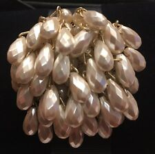 Early CHRISTIAN DIOR Paris Faux Pearl Waterfall Brooch Pin Vintage