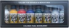 Basic Colors Set: 8 Airbrush Paints for Model & Hobby (Vallejo 71174)