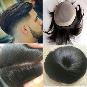 Mens Hair Loss Solution Hair Patch, Hair Wigs, 100% Human Hair Toupee Mono Base