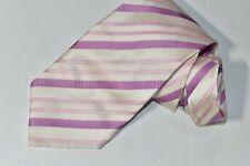 Men's Zilli Striped Purple Silk Neck Tie made in Italy