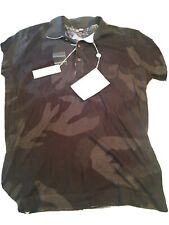 NWT DIesel Mens Polo Olive Green Camo XXL (XL) MSRP $158