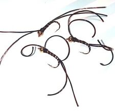 Black Blood Worm Trout Buzzers Trout Lures Fly Fishing Trout Flies