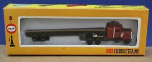 Cox 6222-7 HO 1:87 Peterbilt Semi Truck w Flatbed Trailer RTR NIB 70s