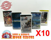 10x SONY PSP CIB IMPORT / DOMESTIC GAME -  CLEAR PROTECTIVE BOX PROTECTOR CASE