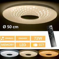 Lámpara de Techo LED Dormitorio Regulable Con Luz Función de Noche 72W