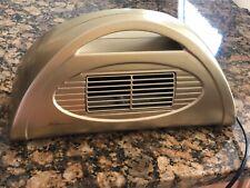 ALOHA Breeze electric desk fan half moon shape gold