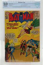 Batman #139 (1961) CBCS 2.0 KEY 1st Batgirl (Betty Kane) Batwoman Cover W@W CGC