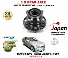 FOR Lexus IS200D IS220D IS250C IS250 2005-2013 NEW 1X REAR WHEEL BEARING HUB KIT