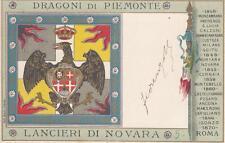 C1111) CAVALLERIA, LANCIERI DI NOVARA, DRAGONI DI PIEMONTE.