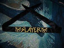 Vintage 1980s SLAYER Pentagram Headband Scarf Tapestry Flag Banner Wall Hanging