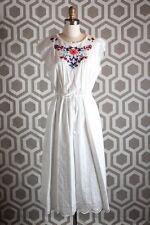 NWT Rebecca Taylor Embroidered Eyelet Cap Sleeve Midi Dress 2 $450 Folk Garden