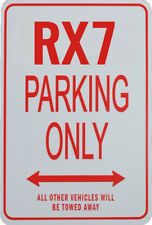 RX7 PARKING ONLY - MINIATURE FUN PARKING SIGN