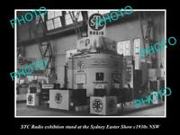 OLD POSTCARD SIZE PHOTO OF STC RADIO SHOW DISPLAY STAND c1930s SYDNEY NSW