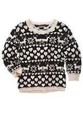 Size 16 Jumper Joe Browns Black & Cream Fluffy/Reindeer/Hearts/Chriatmas/NEW