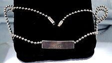 Gucci sterling silver ball chain necklace choker.