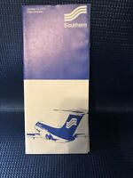 Vintage Southern Airlines Schedule Oct. 15, 1975